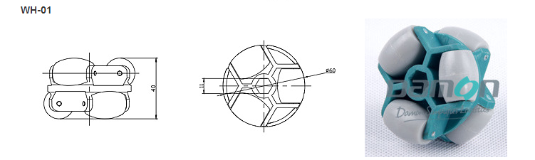 Omni Wheel/Directional Wheel(hexagon hole)
