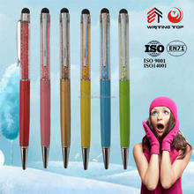 2016 advertising gift bling crystal screen pen