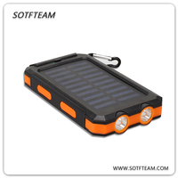 High capacity 2 ports usb portable mobile solar charger 8000mAh cell phone with free sample
