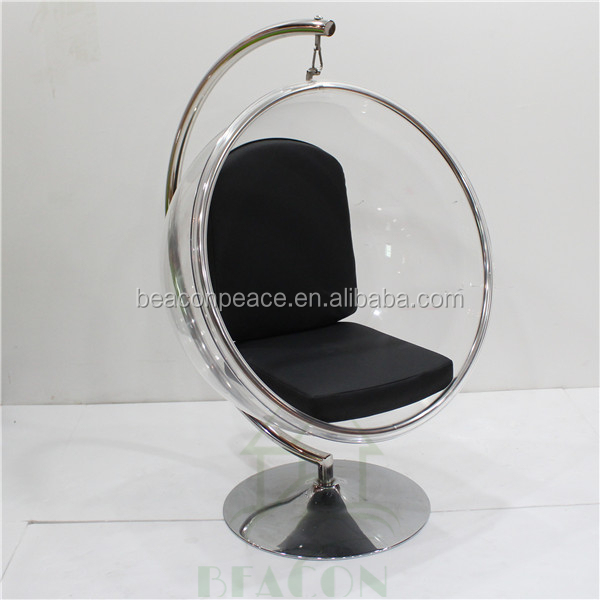 promotional clear eero aarnio acrylic standing bubble chair