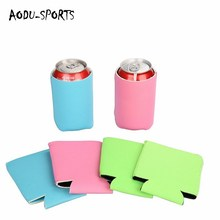 Promotional sublimation printing single neoprene Stubby tube Can Coolers