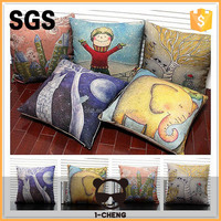 cotton&linen cheap decorative stadium-seat cushion cover can do your own designs