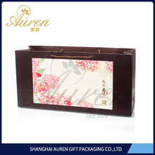 Top Quality luxury gift paper shopping bag with OEM logo