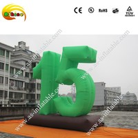 hot-seeling giant 5m 15 advertising inflatable number, inflatable figure, inflatable digit