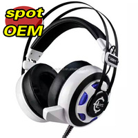 5.1 channel usb Vibration function professional stylish gaming headset GS911 with colorful LED light glare to the music