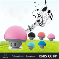 2016 best selling electronic products Cute mushroom portable mini suction wireless waterproof bluetooth speaker