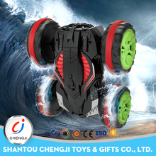 Unique design amphibious remote control stunt cars for adults
