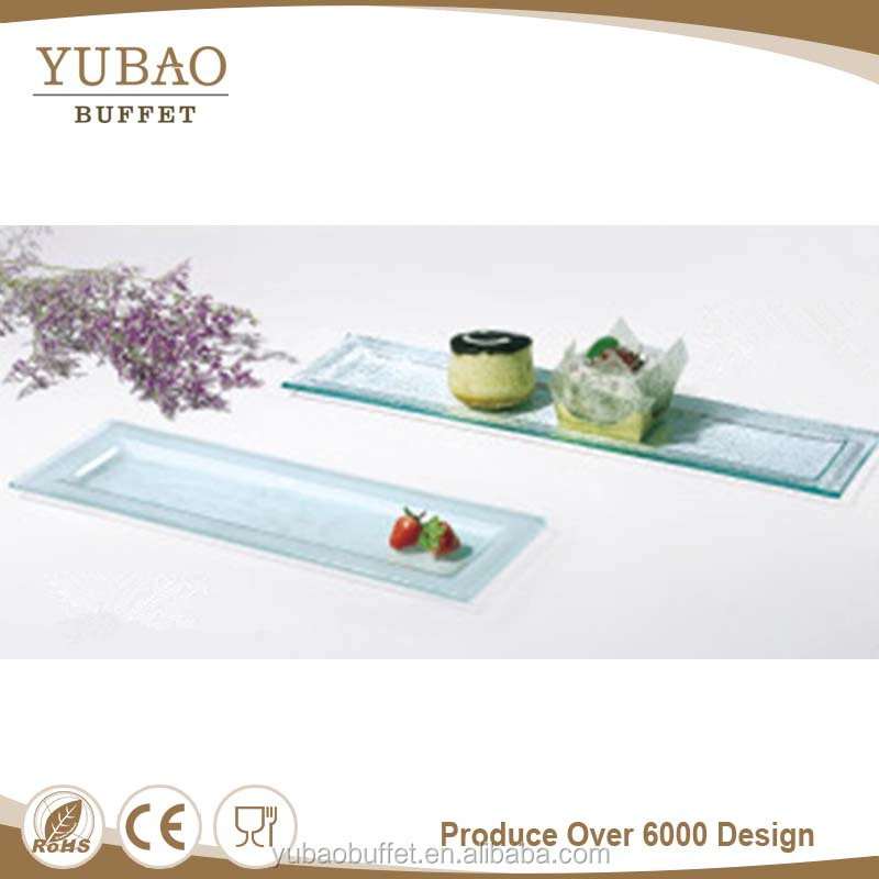 Buffet Equipment Long stem glass cake plate, wedding party pastry display trays, cake display trays