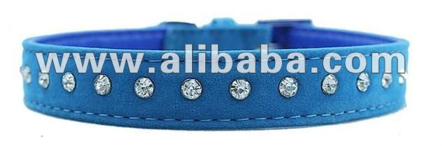 Velvet Diamante Dog Collar