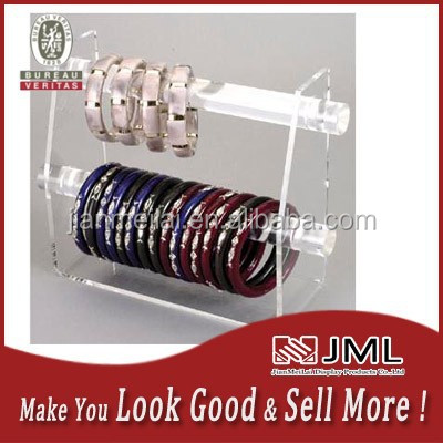 JML clear acrylic bracelet holder display stand