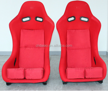 Universal Red Black Cloth Racing Seat Bucket SPG Pole Position JDM Sliders