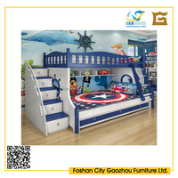 MDF Wooden Kids Bunk Bed With