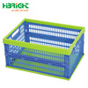 foldable folding stackable storage plastic crate