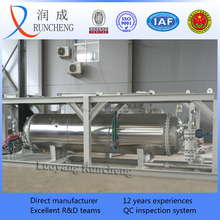 Shell and tube pressure vessel skid mounted heat exchanger for oilfield