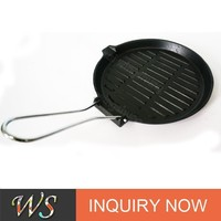WS-FP08 cast iron fajita pan