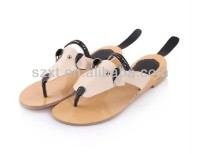 Fancy women dog animal design women flat sandals for 2014