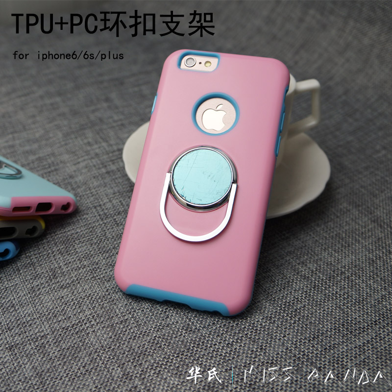 New Arrival Ring Bracket phone case for iphone6 TPU+PC cell phone case cover