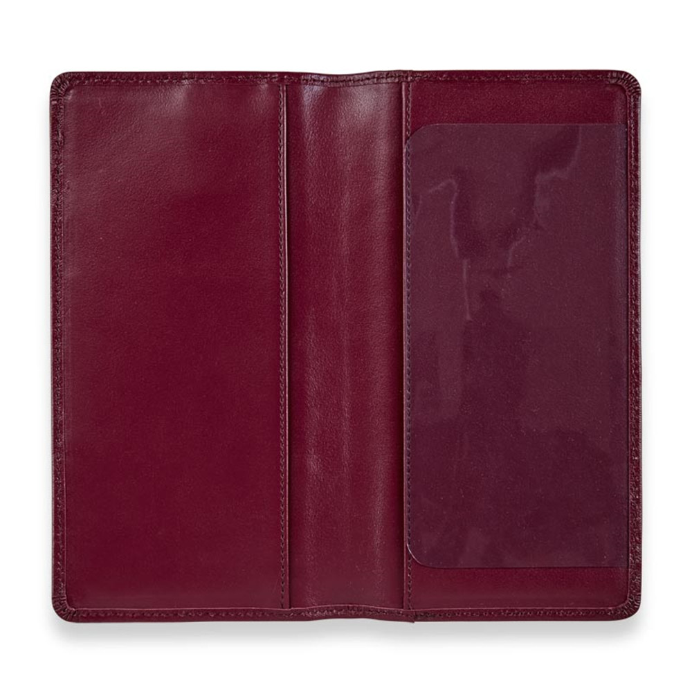 Rfid Blocking PU Leather Checkbook Covers With Pen Holder