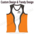 2015 custom running shirts printing running vest with 1 pcs MOQ