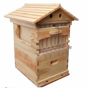 2018 Chinese honey flow hive supplier directly supply classic Australia and America auto flow bee hive for bees keeping