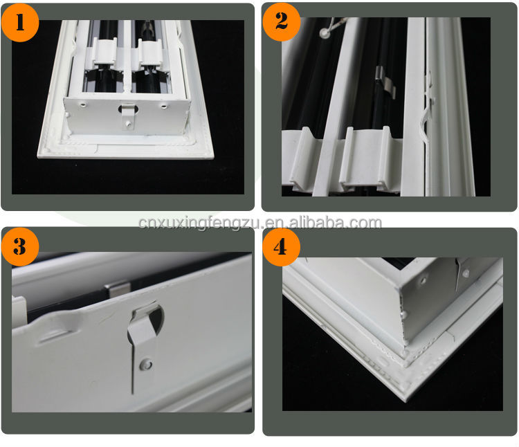 Linear Diffusers Hvac : Aluminum linear bar grille air diffuser powder coating
