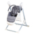Brand new Baby High Chair Swing Seat Portable Adjustable Folding Infant Toddler Feeding Booster PU Leather Cushion Dining Table