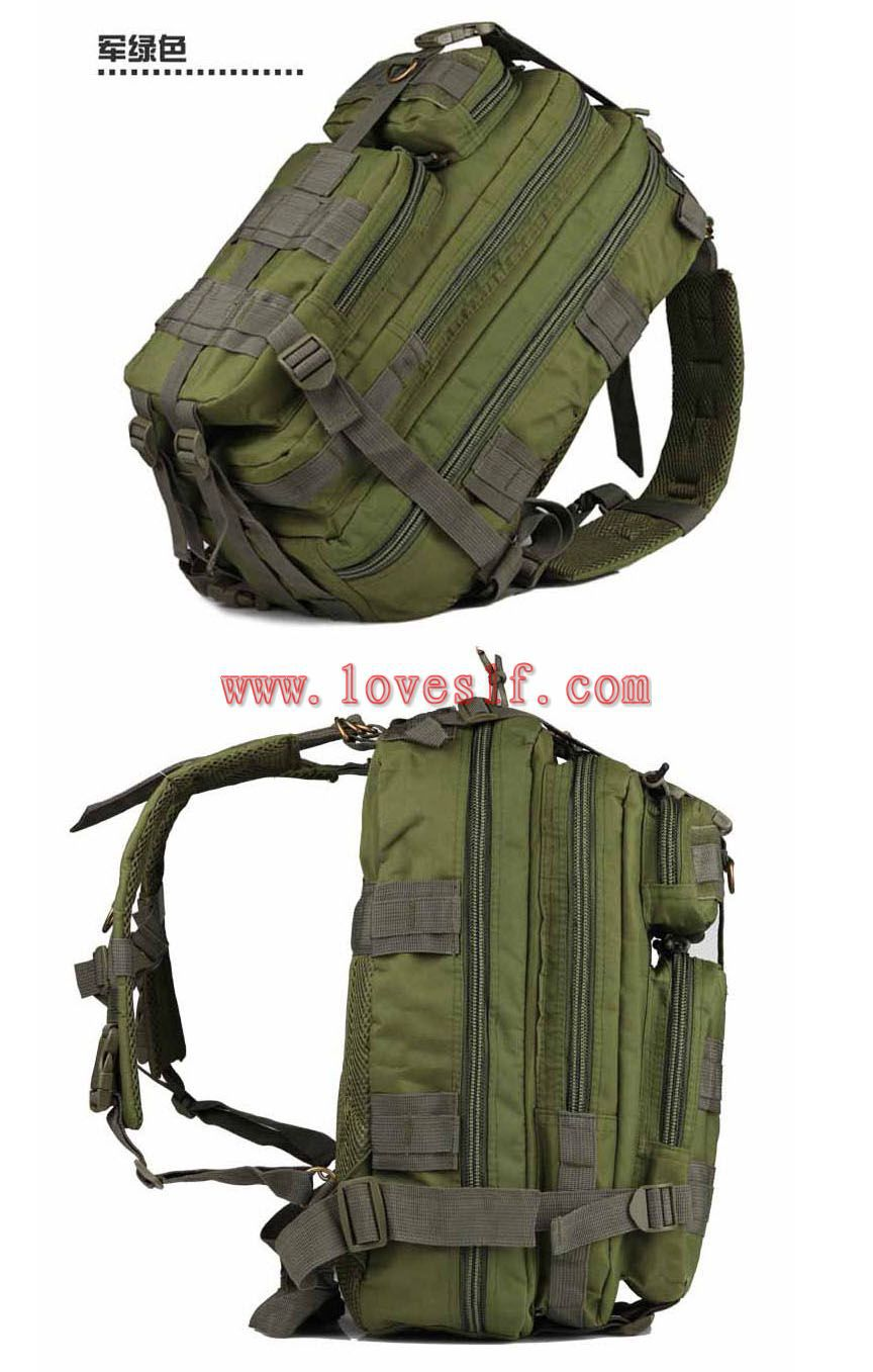 High Quality 3P canvas military backpack green school backpack bag