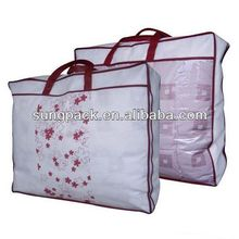 Clear PVC Packing Bag for Pillow Bed Sheets Plastic Zipper Quilt Blanket Bags