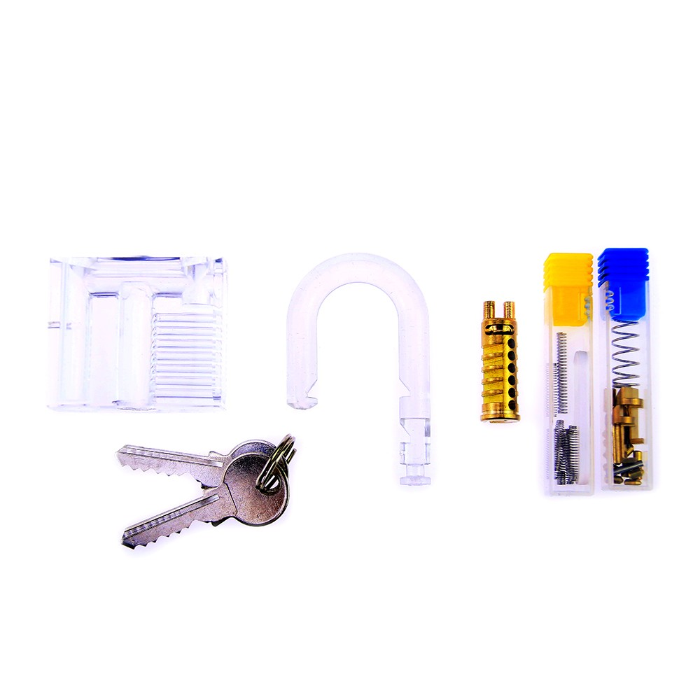 Bullkeys whole set accessories of transparent padlock for DIY assembling