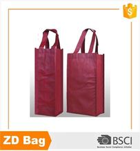 reusable custom logo colorful tnt pp nonwoven wine shopping bag wine bottle bag