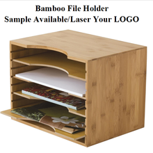 Supplies Office Caddy Set File Organizer Wood Bamboo Office Desk Organizer