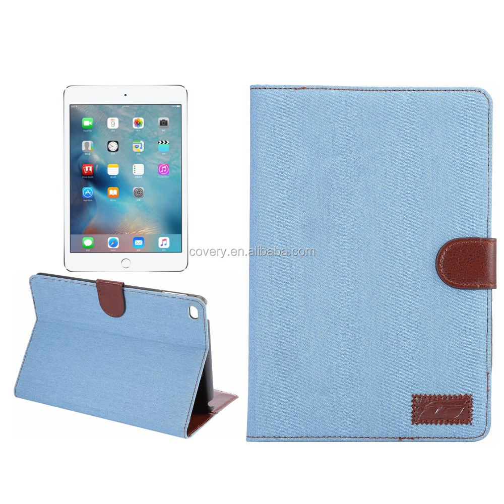 Demin leather case for ipad tablet case,Damin tablet laptop case