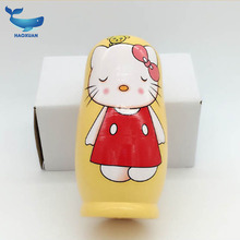 New five-story Lucky Cat Russian dolls wooden educational toys wooden craft