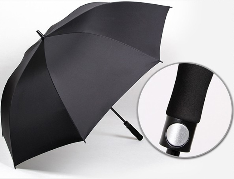 very beatiful personalized umbrella many size can be chosen black polyester golf umbrella