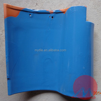310*310 Clay Material Blue spanish glazed roof tiles