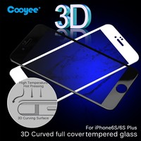 Fashion Style Hot sale 3D Curved 9H Anti-scratch Anti fingerprint Tempered Glass Screen Protector for Iphone 6 / 6S