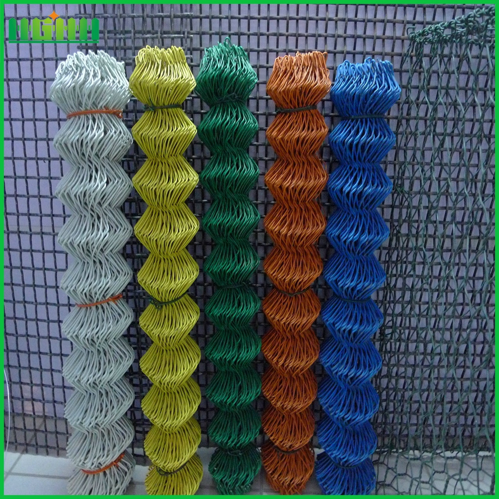 China supplier pvc chain link fence mesh fabric