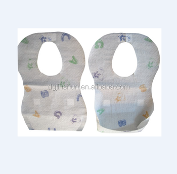 Disposable custom printed Travel Training Childrens Infants Large Bibs 4 Pack 24 Bibs