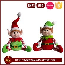 2017 popular factory handmade christmas decoration elf plush toy on the shelf