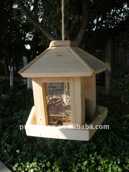 Bird feeder with window