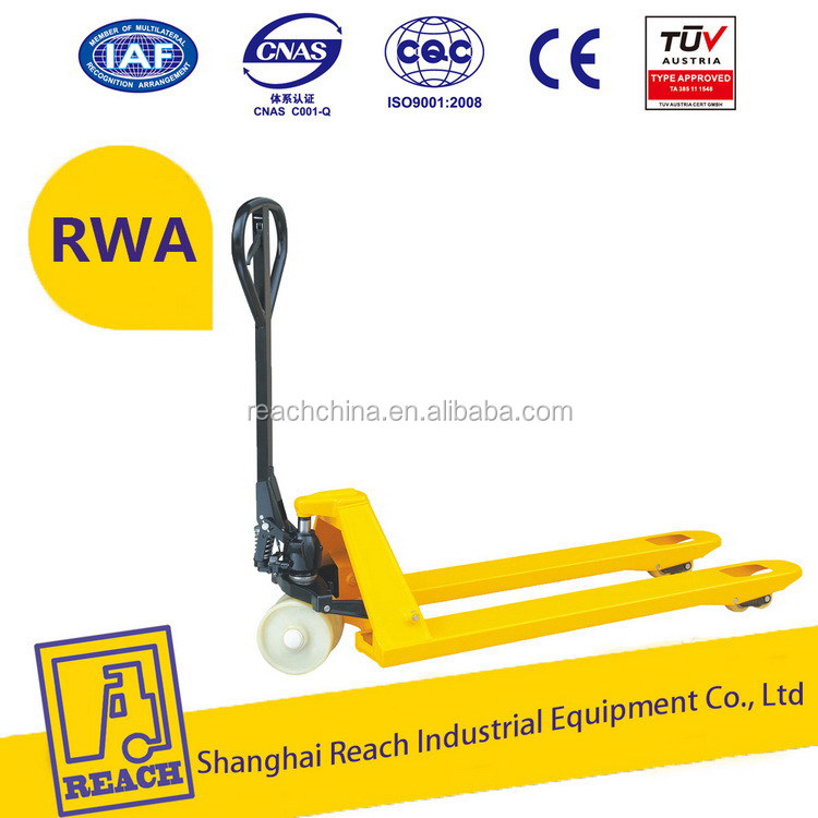 Durable service hot selling hydraulic hand pallet trucks scale