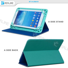 Alibaba slim universal tablet case, silicone + pu leather material for ipad case