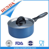 Aluminum non-stick milk pot with stainless steel lid