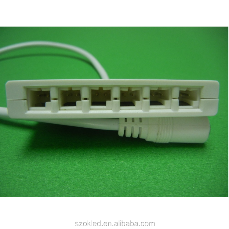 DC Connector to 6 channel spliter box with 30cm cable