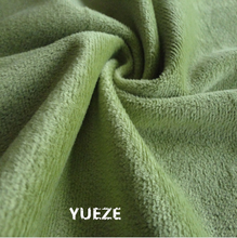 100% polyester knitted brushed velboa plush fabric for garment toys