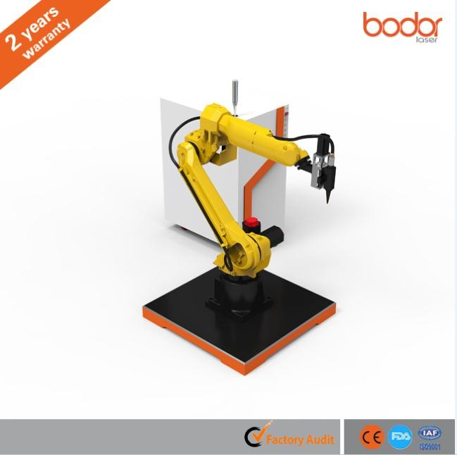 Flexible and high accuracy fiber robotic arm 3D Laser Cutter For Metal Plate Tube / Pipe