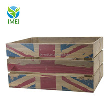 Luxury Quality Milk Vegetable Crates Wooden Crate Box