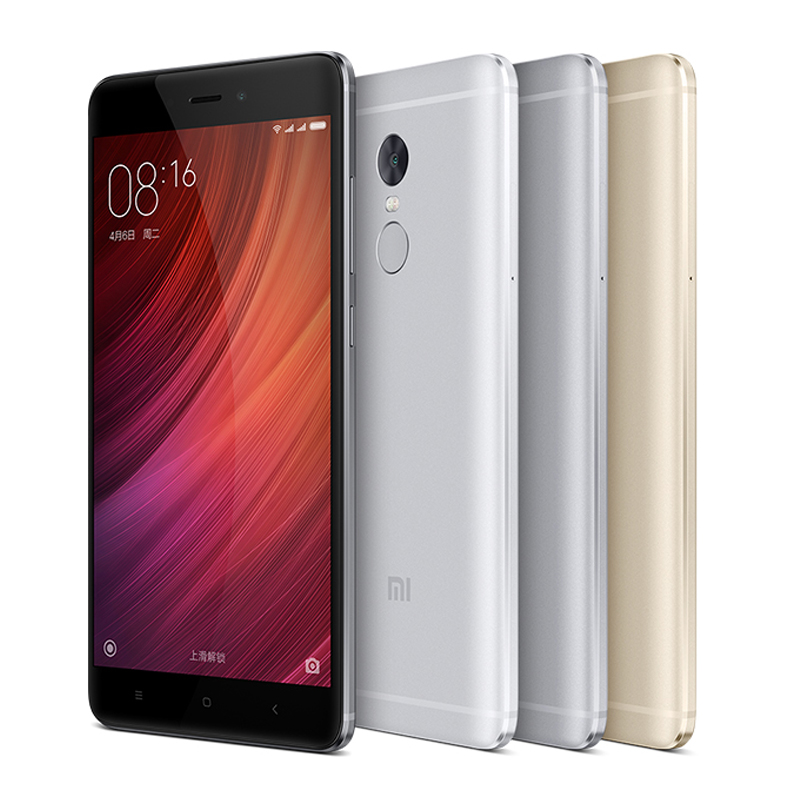 "Original Xiaomi Redmi Note 4 Prime 3GB RAM 64GB ROM Mobile Phone MTK Helio X20 Deca Core 5.5"" FHD 13MP Camera 4100mAh Battery"