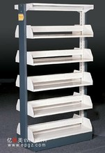 2014 high quality modern unexpensive double sided library shelves