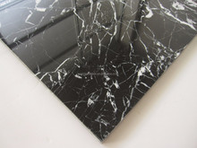 Cheap Black Marquina marble 10mm thick homogeneous wall tiles thickness